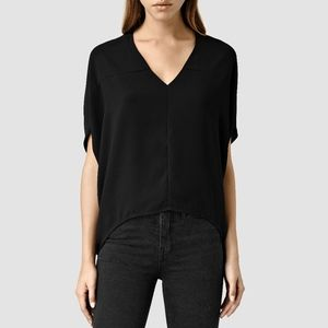 All Saints black lightweight Agave top Size 0